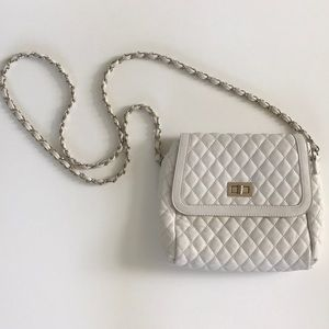 Quilted Crossbody White Purse